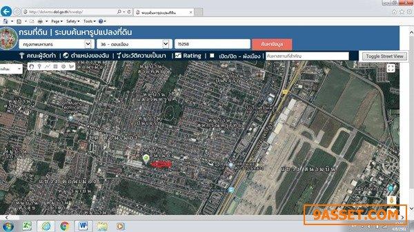 ขายที่ดินเปล่ายังไม่ถม ในซอยแม่ทองก้อน2 ถนนสรงประภา แขวงสีกัน เขตดอนเมือง กรุงเทพ