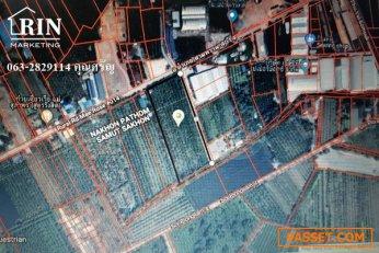 L001  ขายที่ดิน  เนื้อที่ 9 ไร่ 3 งาน 66.8 ตรว.(ที่ยังไม่ถม)  อำเภอสามพราน(ตลาดใหม่)   จ.นครปฐม  063-2829114 คุณศรัญ