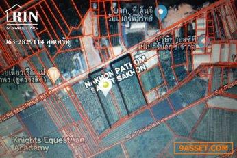 L002  ขายที่ดิน 7 ไร่  ขนาด : กว้าง 52 เมตร ลึก 217 เมตร   063-2829114 ศรัญ