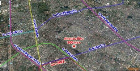 ขายที่ดินเปล่า ลาดพร้าว 35 แปลงมุมรูปสี่เหลี่ยมผืนผ้าสวยติดถนน2ด้าน เนื้อที่ 100 ตรว.หน้ากว้าง 27 เมตร ลึก 15 เมตร