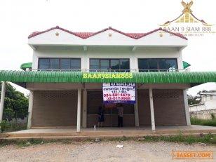 อาคารพาณิชย์ 2ชั้น ตลาดหนองปรือ อ.หนองปรือ จ.กาญจนบุรี