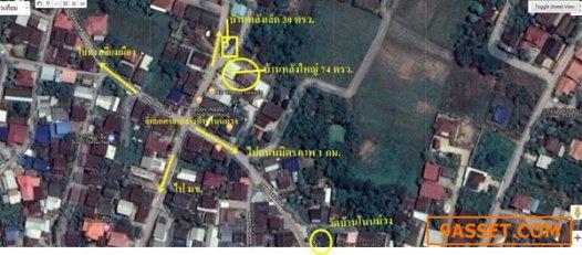 R070 - 0030 - ขายบ้านพร้อมที่ดิน 74 ตารางวา  3 นอน 2น้ำ 095-65-1-48-72 สุวัฒน์