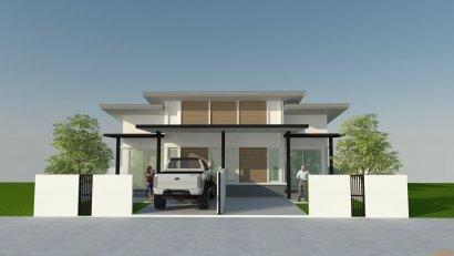 บ้านแฝดชั้นเดียวสร้างใหม่ ถูก สวย ดี น่าอยู่มาก ม.ธัญญาพร2 คลอง8 ธัญบุรี จ.ปทุมธานี