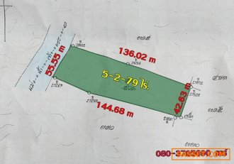 ขายด่วน ที่ดินติดริมน้ำเจ้าพระยา เกาะเกร็ด 5-2-79 ไร่ 080-3795690 แคร์