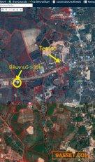 R017-003 ขายที่ดิน  แกลง ระยอง อำเภอเมือง  ติดถนนสุขุมวิท เส้นหลัก  5-1-30 ไร่