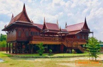 R072-059 ขายบ้านเรือนไทย แต่งสวยพร้อมอยู่ เนื้อที่ 3 งาน 092-952-2861 Ao