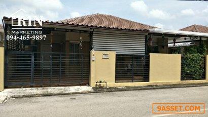 ขายบ้านเดี่ยว 1 ชั้น หมู่บ้านชีวา 1 เมืองราชบุรี ราคาถูก 42 ตรว. หลังใหญ่ ราคาถูก 094-465-9897