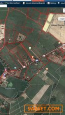 R017-007 ขายที่ดิน ท่าม่วง กาญจนบุรี ติดถนน  เส้น3209   24ไร่ 099-606 6369 กฤษณา