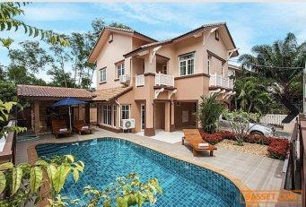 ขายบ้านเดี่ยว 2 ชั้น พร้อมสระว่ายน้ำ หมู่บ้านฟ้าริมหาด บางละมุง ชลบุรี