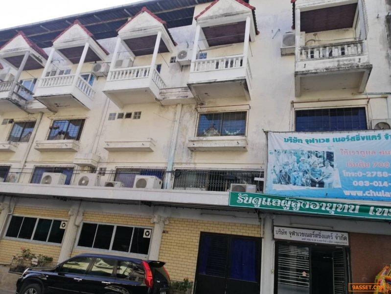 ขายอาคารพาณิชย์ 8 คูหา ย่านเทพารักษ์ ติดซอยเทพารักษ์10 ใกล้สถานี BTS สำโรง