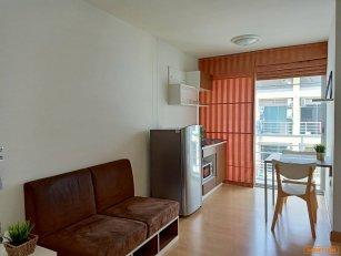 ให้เช่า smart condo พระราม2 ห้องมุม วิวสวย เฟอร์ฯครบ ชั้น 8 ระเบียงหันทิศเหนือไม่ร้อน