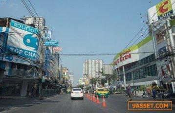 ขาย ที่ดิน ริมถนนอ่อนนุช เนื้อที่ 155 ตารางวา กว้าง 21 เมตร ลึก 27 เมตร
