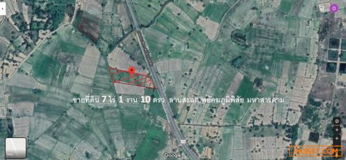 ขายที่ดิน 7 ไร่ 1 งาน 10 ตรว.ติดถนน นาเชือก พยัคฆภูมิพิสัย มหาสารคาม 098-9057896