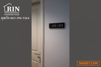 ขายคอนโด ขายถูก แถมฟรี เฟอร์/ไฟครบ  063-396-3264