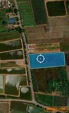 ขายที่ดินเปล่า4ไร่ 2งาน พร้อมโฉนด ที่ดินติดถนน45-50 เมตร ลึก85 เมตร