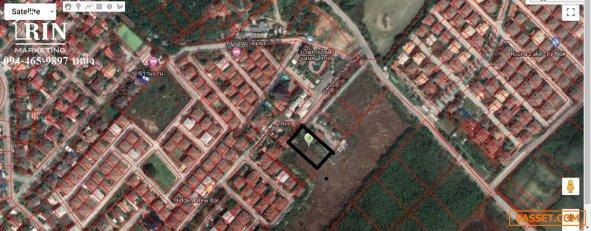 ขายที่ดิน ใกล้หมู่บ้านสแกนดิเนเวียร์ บางแสน Land for sale near the village of Scandinavia 094-465-9897