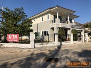 ขายบ้าน ในหมู่บ้านเมืองเอก ขอนแก่น บ้านตึกสองชั้น 84 ตรว. บ้านใหม่ไม่เคยอยู่อาศัย