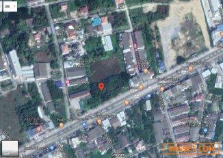 ขายที่ดินเปล่า นครชัยศรี (แบ่งขายได้) รูปสี่เหลี่ยม หน้ากว้างติดถนน 111 เมตร ลึก 90 เมตร