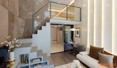 ขายดาวน์คอนโด Knightsbridge space รัชโยธิน 1 Bed Duo Space แบบ loft มีชั้นบน พื้นที่รวมประมาณ 39.6 ตรม.(พื้นที่ชั้นล่าง+ชั้นบนโดยประมาณ) ชั้น 17 และ 22