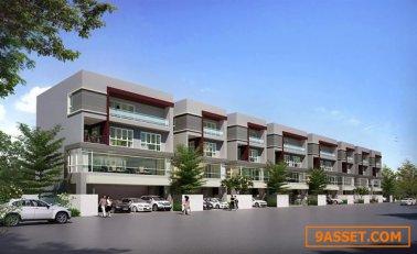 ให้เช่าโฮมออฟฟิศ 4 ชั้น เดอะ เทอร์มินอล สุวรรณภูมิ 54 ตรว 489 ตรม ที่จอดรถ อาคาร 3 คัน นอกอาคารสามารถจอดได้ 100 คัน บนถนนกิ่งแก้ว