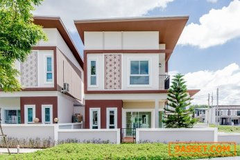 ขาย,ให้เช่า บ้านแฝดริมสวน สิปัญ วิลล์  บ้านสวยใกล้นิคมอีสเทิร์นซีบอร์ด นิคมเหมราช ปลวกแดง ระยอง