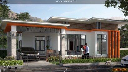 ขายบ้านเดี่ยว สร้างใหม่สไตล์โมเดิร์น 80 ตาราง ดอยสะเก็ด เชียงใหม่