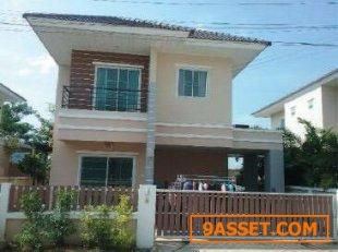ขายบ้านเดี่ยว 2 ชั้น หมู่บ้านมณีรินทร์วิลเลจ หนองมน จังหวัดชลบุรี