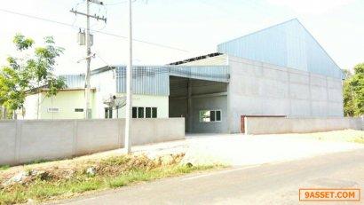 ขายโกดัง คลังสินค้า โรงงานและออฟฟิศ อาคาร 1 ชั้น พื้นที่ใช้สอยกว่า 1800 ตรม พร้อมที่ดิน กว่า 22 ไร่