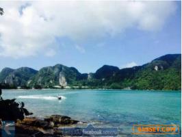 ติดริมทะเล-วิวทะเลพาโนราม่า-บนหาดโละดาลัม-อ่าวนาง-เกาะพีพี-