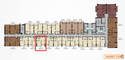 ขาย วิสซ์ดอม อเวนิว รัชดา-ลาดพร้าว 1 ห้องนอน 1 ห้องน้ำ ชั้น 9 ขนาด 31 ตร.ม.