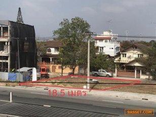 @ที่ดินสวย 66 ตารางวา ติดถนนใหญ่ 8 เลน หน้ากว้าง 18.5 เมตร เหมาะสำหรับทำออฟฟิศ ร้านกาแฟ ร้านสะดวกซื้อ คาร์แคร์ ฯ
