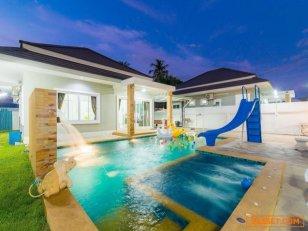 ขายบ้านพัก Pool Villa หัวหินซอย 70 สระส่วนตัวพร้อมสระเด็ก เฟอร์นิเจอร์ครบ ใกล้ร้านสะดวกซื้อ