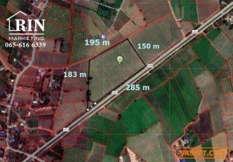 ขายที่ดินสวย 1งาน51 ตรว. 175,000 บาท หน้าติดถนนลาดยาง 40 เมตร 065 616 6339 คุณหมี