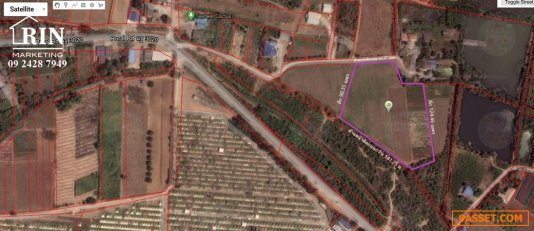 TH2879_036 ขายที่ดิน 10 ไร่ ติดถนน เหมาะทำโรงงาน โกดัง หรือหอพัก กำแพงแสน นครปฐม