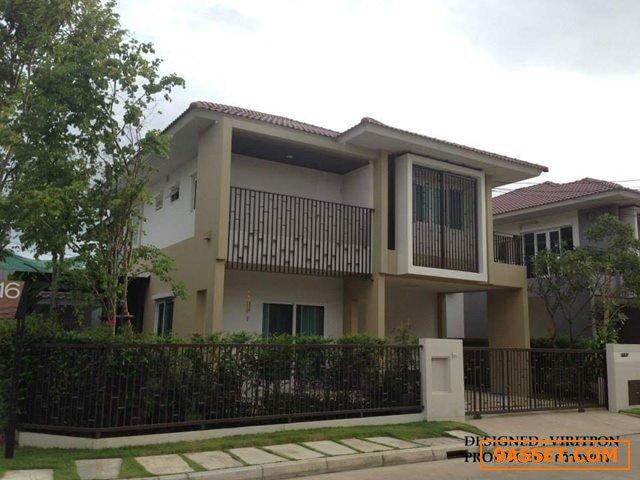 ขาย บ้านเดี่ยว 2 ชั้น เนื้อที่ 55.2 ตารางวา หลังมุม หมู่บ้าน บุราสิริ ท่าข้าม-พระราม 2