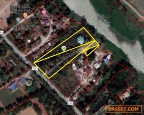 ขายที่ดินติดแม่น้ำท่าจีน 6 ไร่ พร้อมบ้านเดี่ยว นครชัยศรี จ.นครปฐม