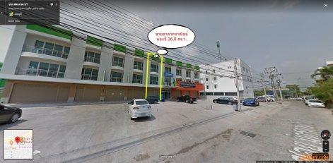 ขายอาคารพาณิชย์สามแยกปัก 1 คูหา จำนวน 3 ชั้น
