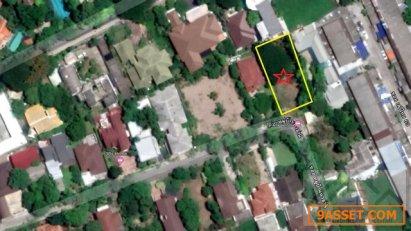 ขายที่ดินเปล่าในหมู่บ้านนวธานี เสรีไทย พื้นที่ 191 ตร.วา ใกล้ทางขึ้น-ลงมอเตอร์เวย์