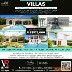 Villas on Best Locations in the Caribbean Punta Cana - Dominican Republic Starting from US$535,000