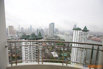 Supalai River Place Riverfront Condo Breathtaking River View Renovated Studio Unit for Sale