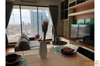Baan Klang Krung Siam Pathumwan Condo Renovated 1 Bedroom Unit for Rent/Sale