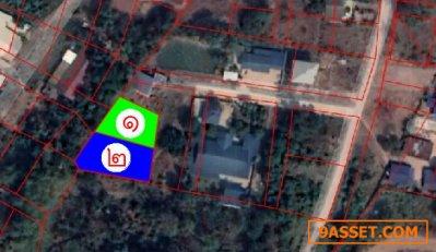 ขายถูกที่ดิน 2 แปลง  ใกล้ ตลาดไทยศิริ  ที่ดินเหมาะสร้างบ้านพักอาศัย