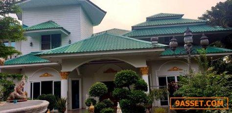 ขายบ้านเดี่ยว ในจังหวัดชลบุรี หลังใหญ่สวย 7 ห้องนอน เนื้อที่ 2 ไร่ กับ 98 ตร.ว. พร้อมเฟอร์