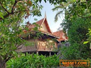 ให้เช่า บ้านเรือนไทย ในกรุงเทพ ซ.นวมินทร์ 145 Thai Wood House in Bangkok