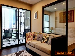 คอนโดใหม่แต่งสวย ห้องใหญ่แบบ 1 ห้องนอน ที่ ณ วรา เรสซิเดนซ์ หลังสวน A Nice Large 1 Bed Unit at a New Condo Project. Navara Residence Langsuan