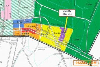 ขาย ที่ดิน ผังสีม่วง นิคมอุตสาหกรรมนำไกร ลาดกระบัง 7 ไร่ 3 งาน 86 ตร.วา ใกล้มอเตอร์เวย์ สนามบินสุวรรณภูมิ