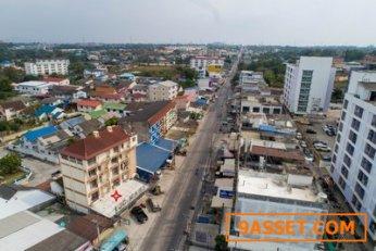 ขายด่วน ทำเลดี ใจกลางชลบุรี ตึกติดถนนเก้ากิโล เนื้อที่ 61 ตรว. พร้อมอพาร์ทเม้นท์ 5 ชั้น