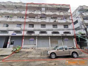 ขายอาคารพาณิชย์ 4 คูหา หลังมุม 4 ชั้นครึ่ง ขนาด 102 ตรว. ไทรอัมพ์เซ็นเตอร์ ถ.เทพารักษ์ กม.12