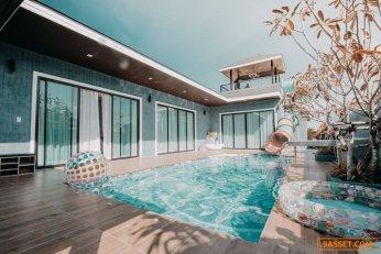 ขายกิจการ Pool Villa‼️ พร้อมบ้าน ชะอำ-หัวหิน บ้านสไตล์บาหลี
