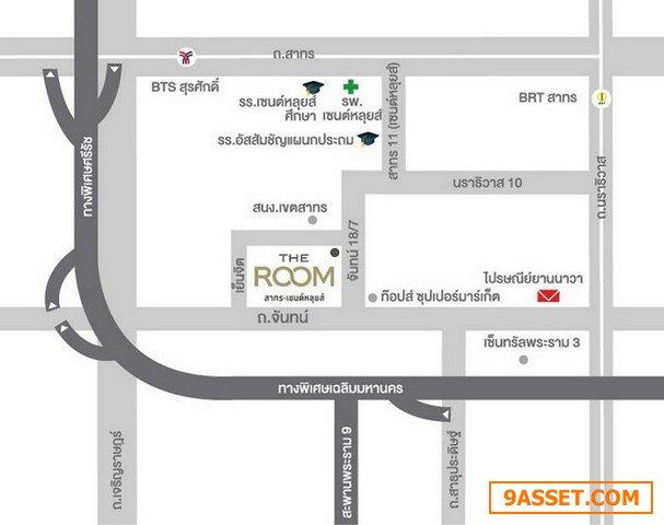 The Room Sathorn - St. Louis คอนโด เดอะรูม สาทร-เซนต์หลุยส์ เฟอร์ครบ 35 ตร.ม.